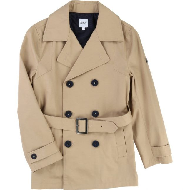 Boys Natural Belted Trench Coat