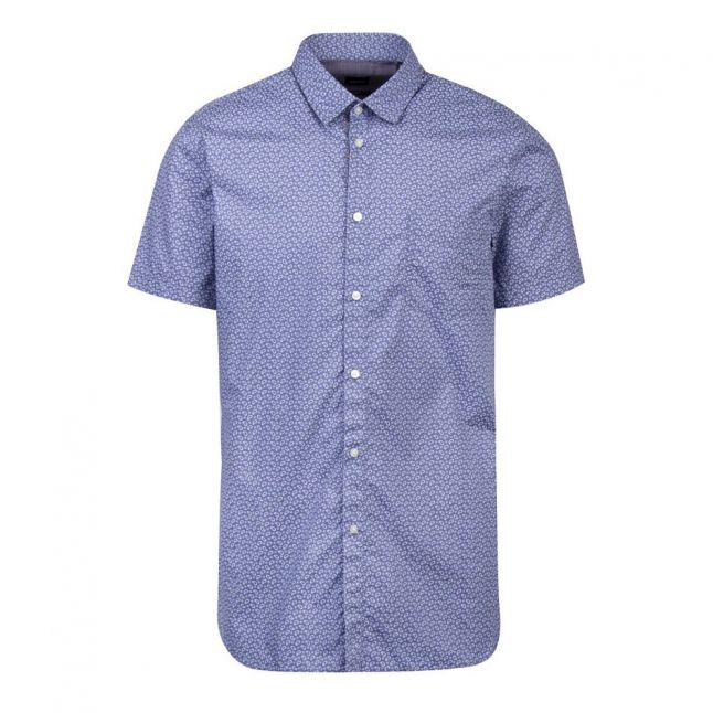 Casual Mens Blue Megneton_1 S/s Shirt