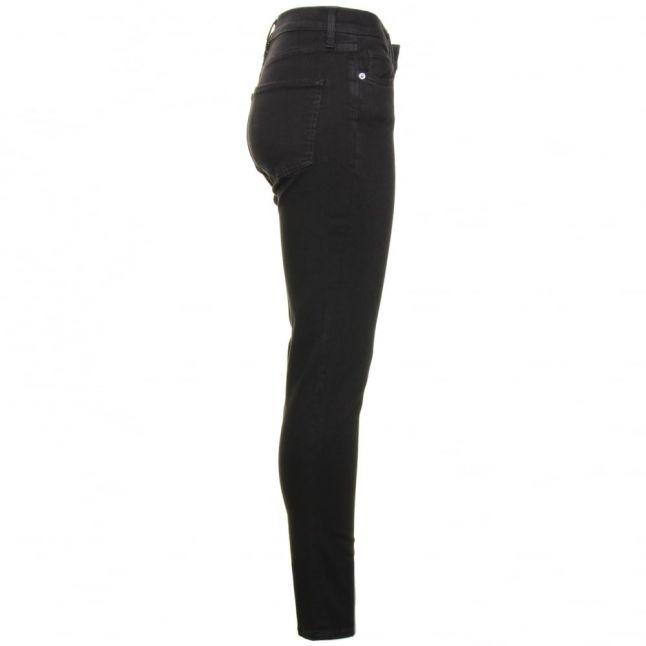 Womens Black Rebound Skinny Fit Jeans