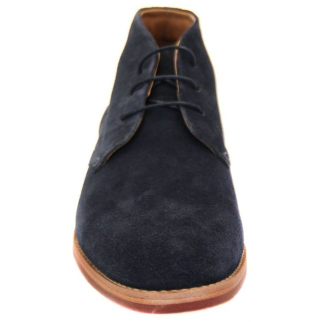 H By Hudson Mens Navy Houghton III Chukka Boots