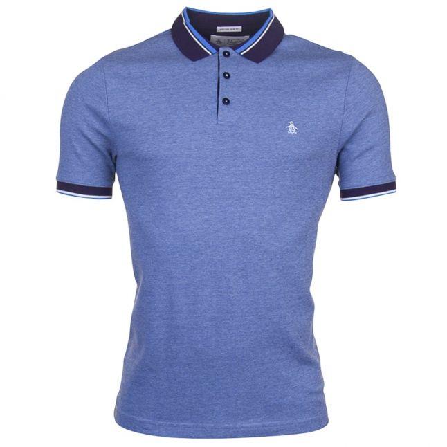 Mens Dark Sapphire Birdseye Pique S/s Polo Shirt