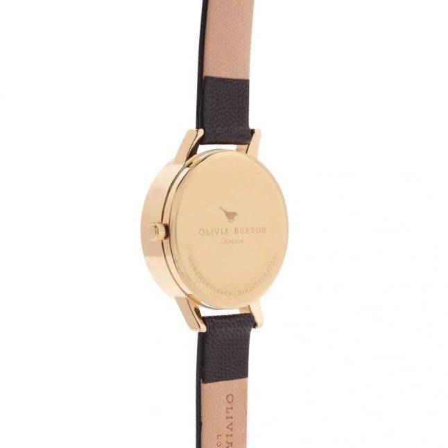 Womens Black & Gold Animal Motif Moulded Bee Watch