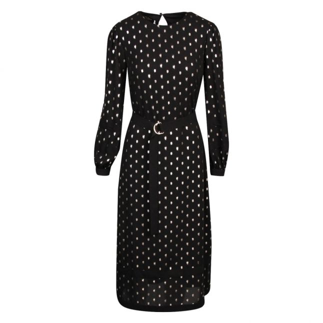Womens Black Haylow Printed Midi Dress