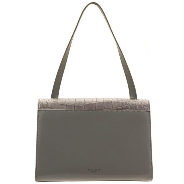 Womens Grey Lowri Exotic Panel Shoulder Bag