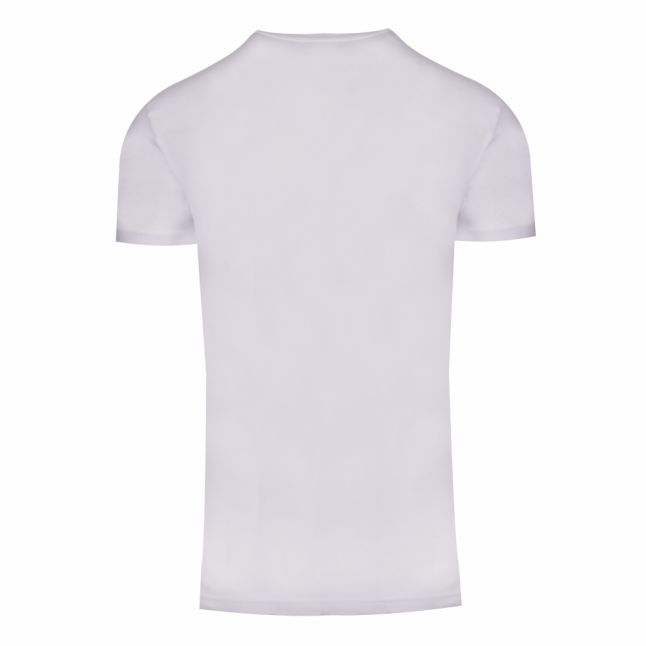 Mens White Front Logo S/s T Shirt