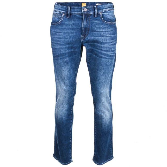 Mens Navy Wash 24 Barcelona Regular Fit Jeans