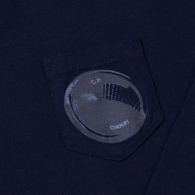 Boys Blue Portal Pocket L/s Tee Shirt