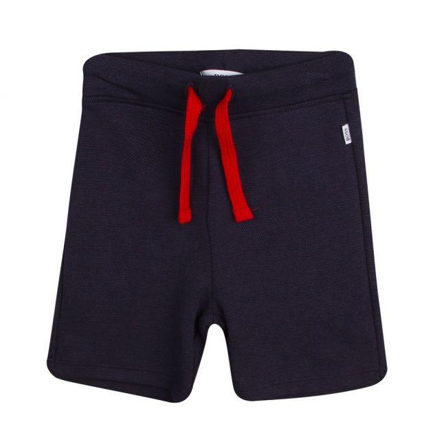 Boys White/Navy Logo T Shirt & Shorts Set