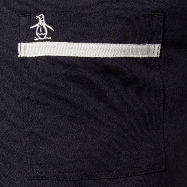 Mens Dark Sapphire Tape Pocket S/s Tee Shirt