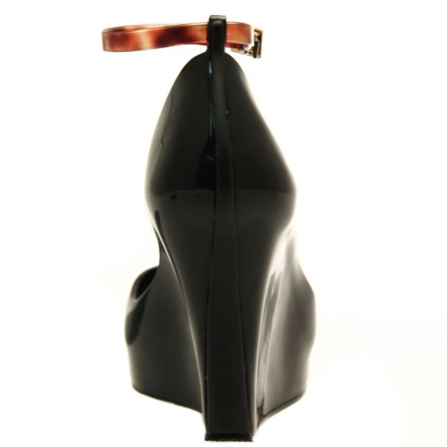Womens Black Patchuli Wedge