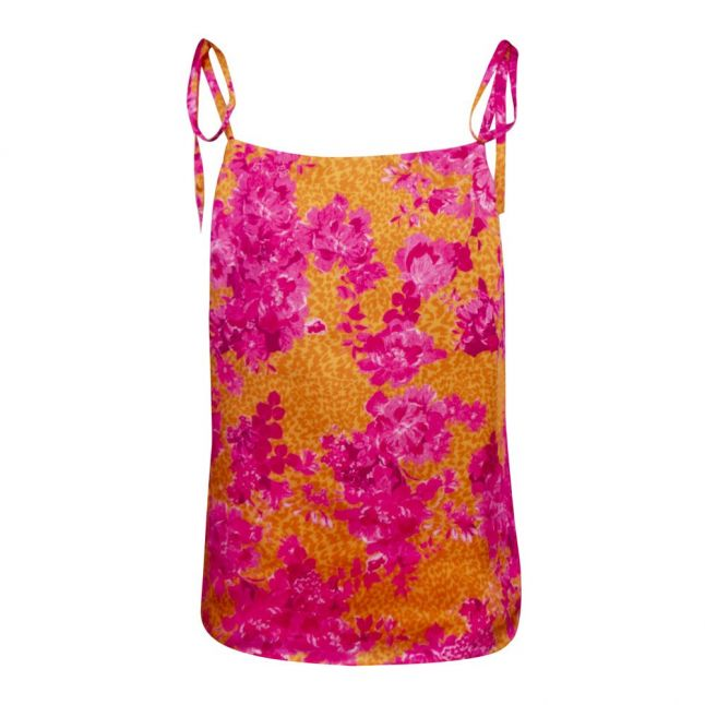 Womens Yellow/Pink Gweneth Square Neck Cami Top