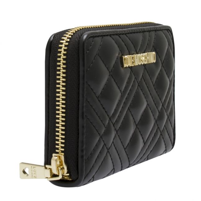 Womens Black Diamond Quilted Small Purse