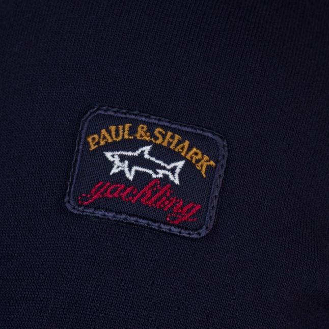 Paul & Shark Mens Navy Shark Fit Crew Sweat Top