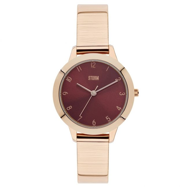 Womens Red Dial Rose Gold Arya Watch