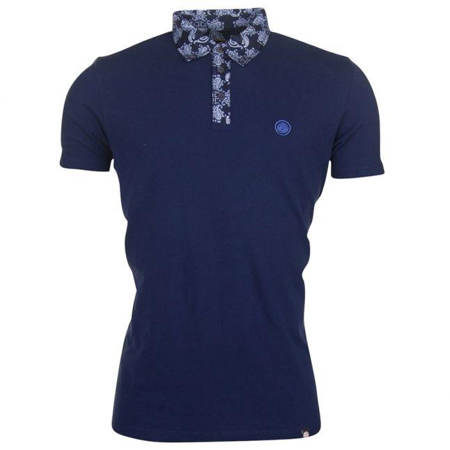 Mens Navy Palastine S/s Polo Shirt