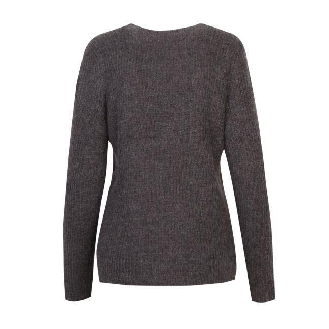 Womens Dark Grey Melange Vigood Wool Knitted Jumper