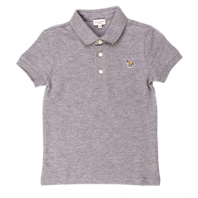 Boys Marl Grey Ridley 2 S/s Polo Shirt