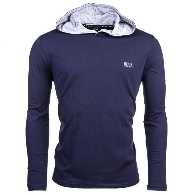 Mens Navy Hooded Loungewear Top