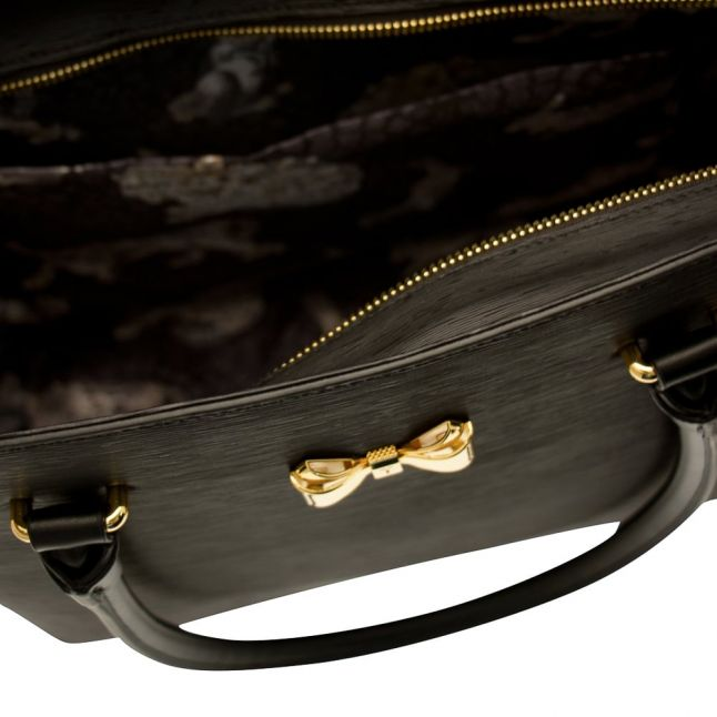 Womens Black Tinsley Bow Shopper Bag