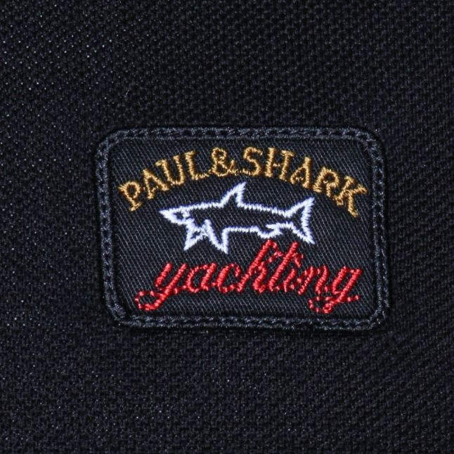 Mens Black Shark Fit S/S Polo Shirt