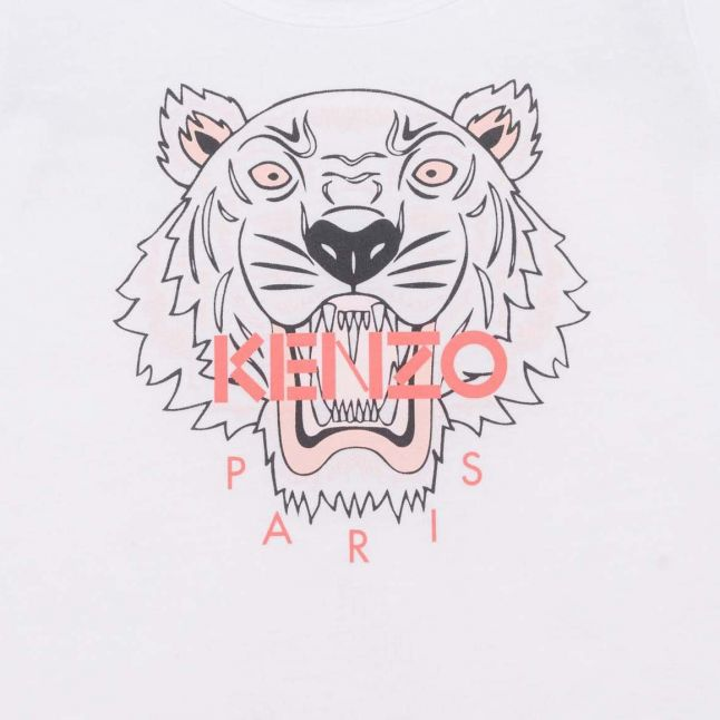 Baby White/Pink Core Tiger S/s T Shirt