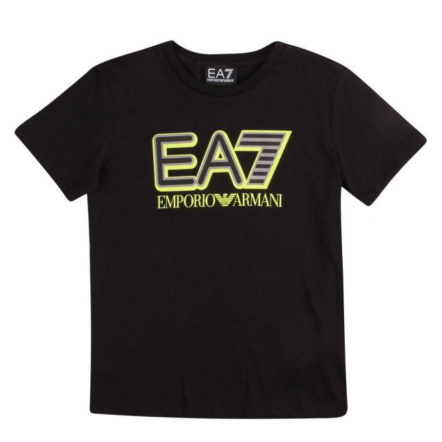 Boys Black Big Logo S/s T Shirt