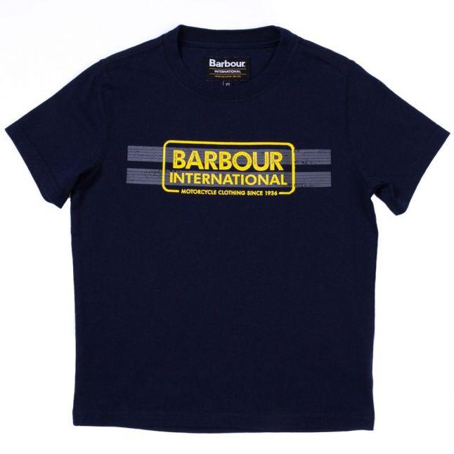 Boys Navy Tyre S/s Tee Shirt