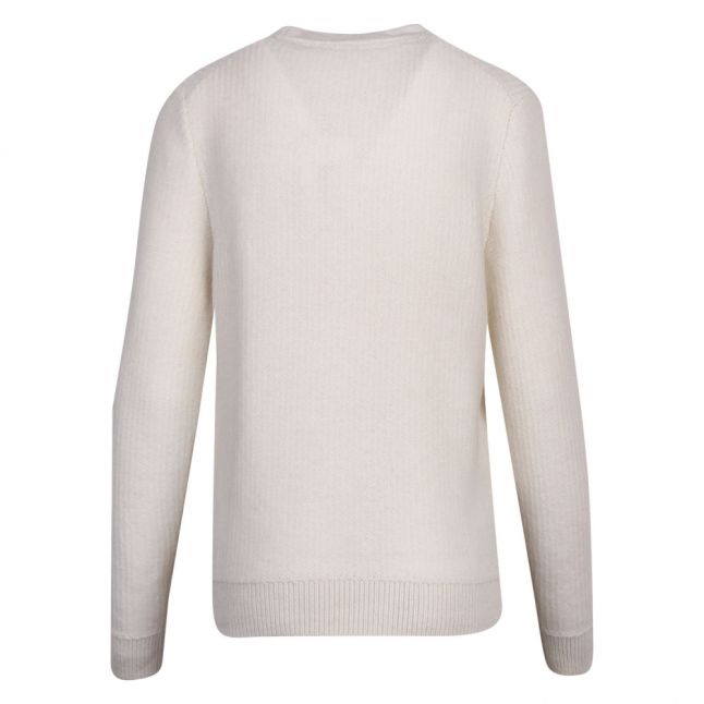 Womens Ivory Kenala Textured Stitch Knitted Jumper