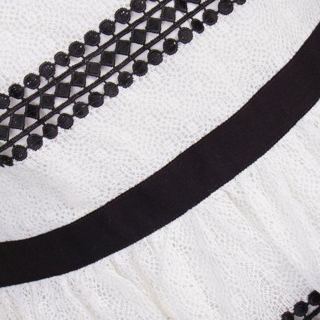 Womens White & Black Graphic Stripe Dress