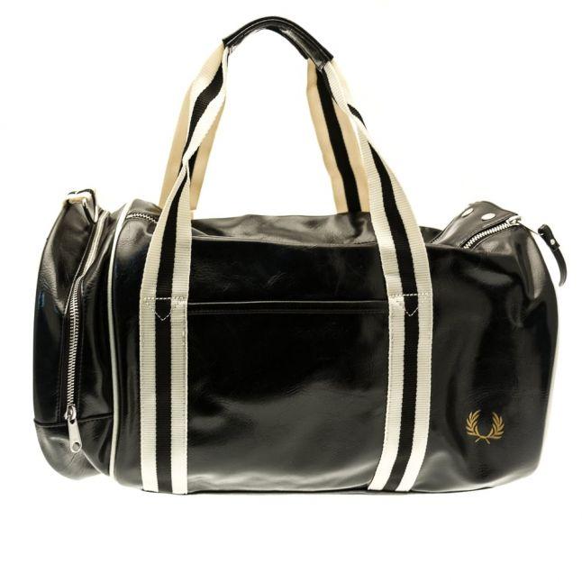Mens Black & Ecru Classic Barrel Bag