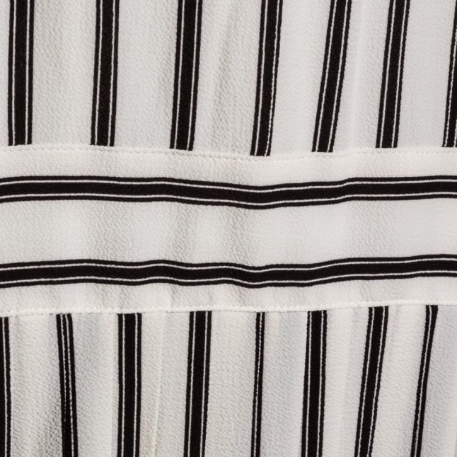 Womens Black & White Yasjuly Stripe Dress