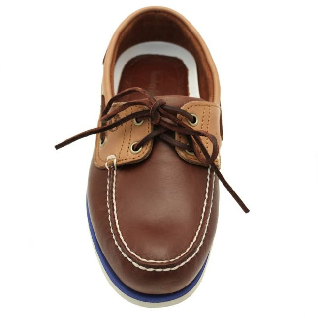 Mens Potting Soil & Tan Classic 2-Eye Boat Shoes