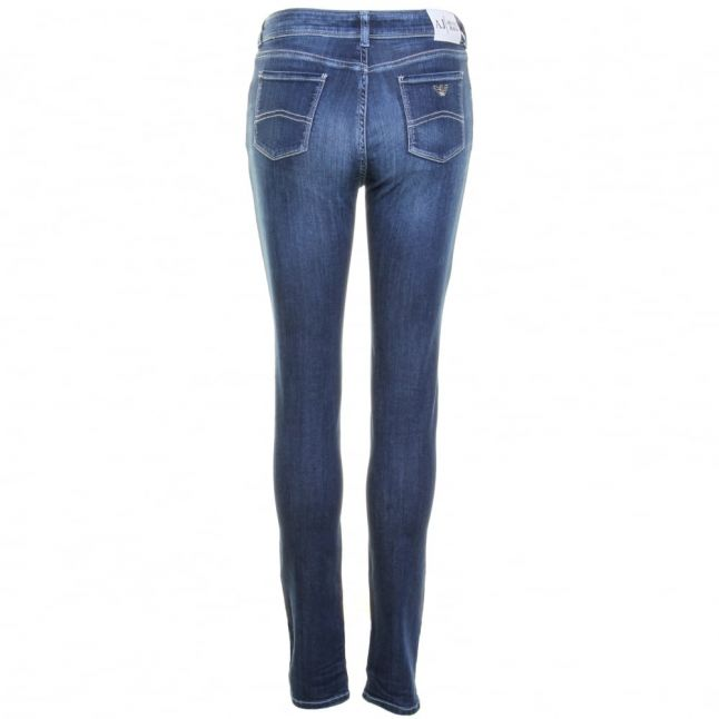 Womens Blue Wash J20 High Rise Skinny Fit Jeans