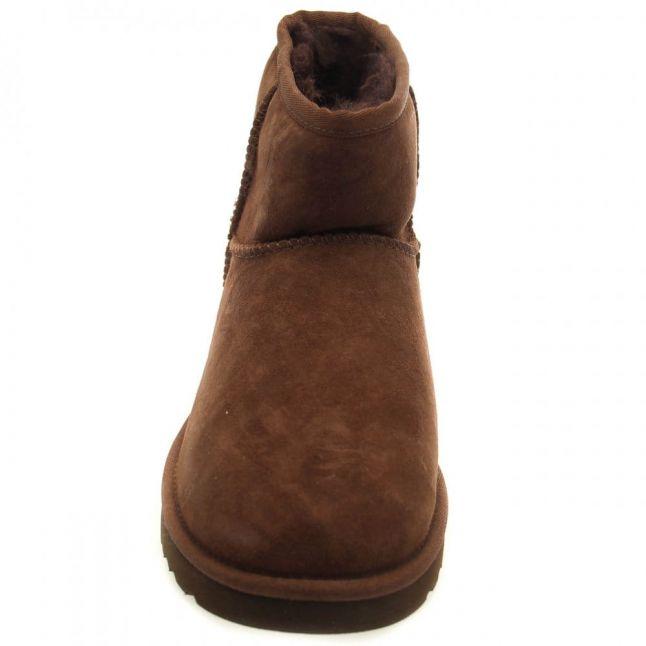 Womens Chocolate Classic Mini Boots