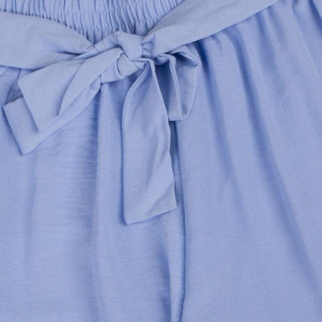 Womens Powder Blue Virasha Cropped Culottes