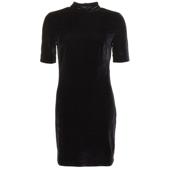 Womens Black Vifennie Velvet Dress
