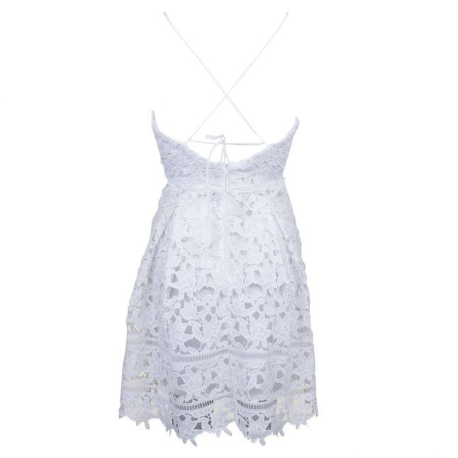 Womens Cloud Dancer Viclarna Lace Strap Dress