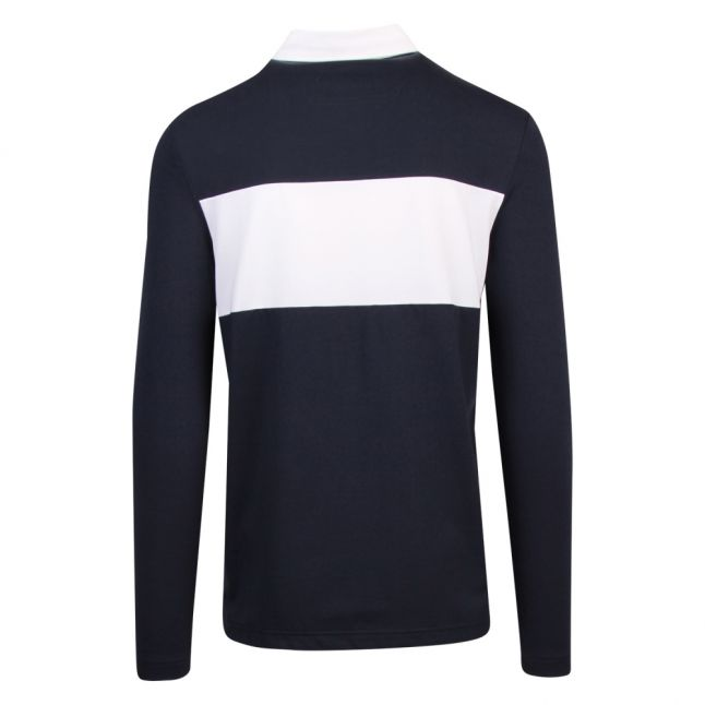 Athleisure Mens Navy Plisy 1 Rugby L/s Polo Shirt