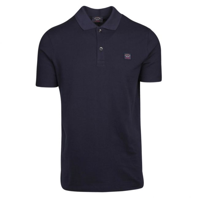 Mens Navy Classic Logo Custom Fit S/s Polo Shirt