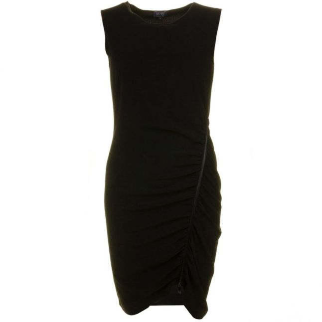Womens Black Rouched Dress