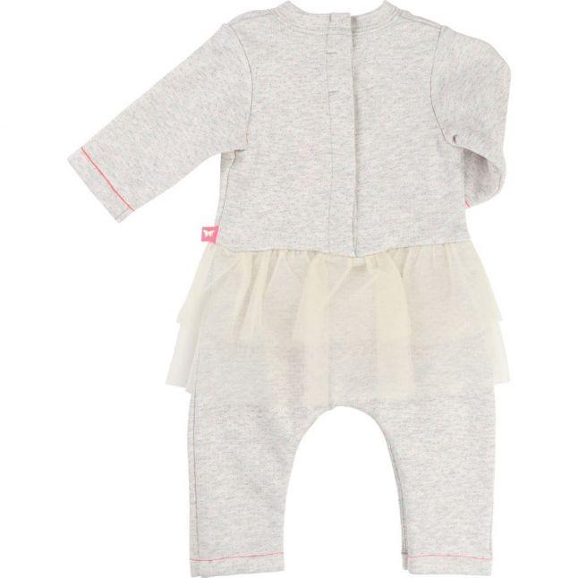 Baby Grey Tutu L/s Romper