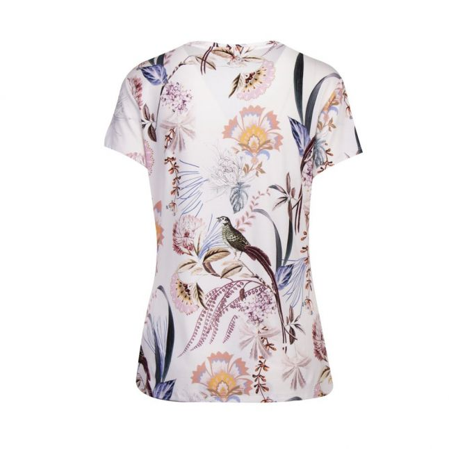 Womens White Jerikko Decadance Fitted S/s T Shirt