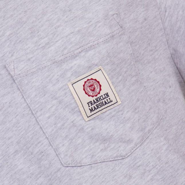 Mens Light Grey Melange Pocket Logo S/s Tee Shirt