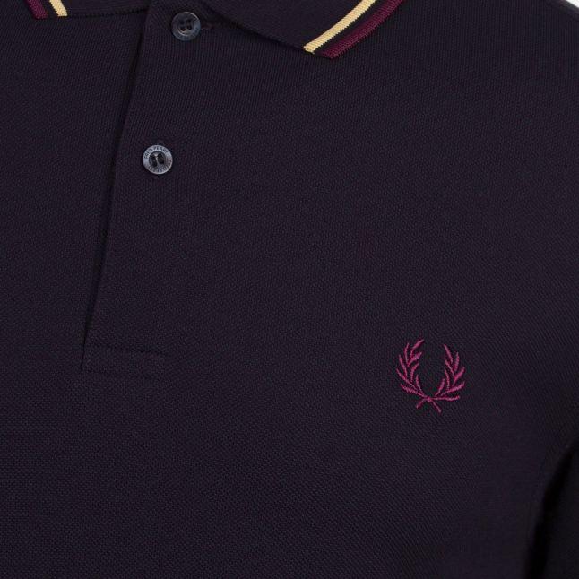 Mens Navy/Champagne/Mahogany Twin Tipped S/s Polo Shirt