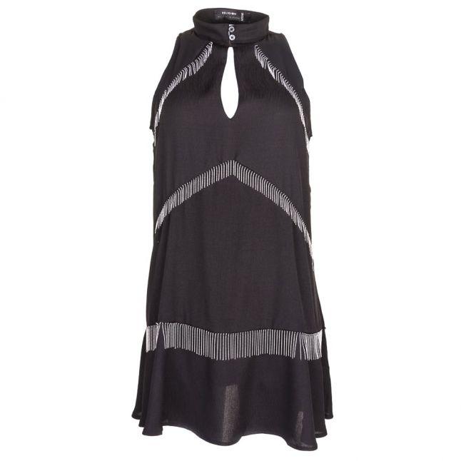 Womens Jet Black Dark Dress