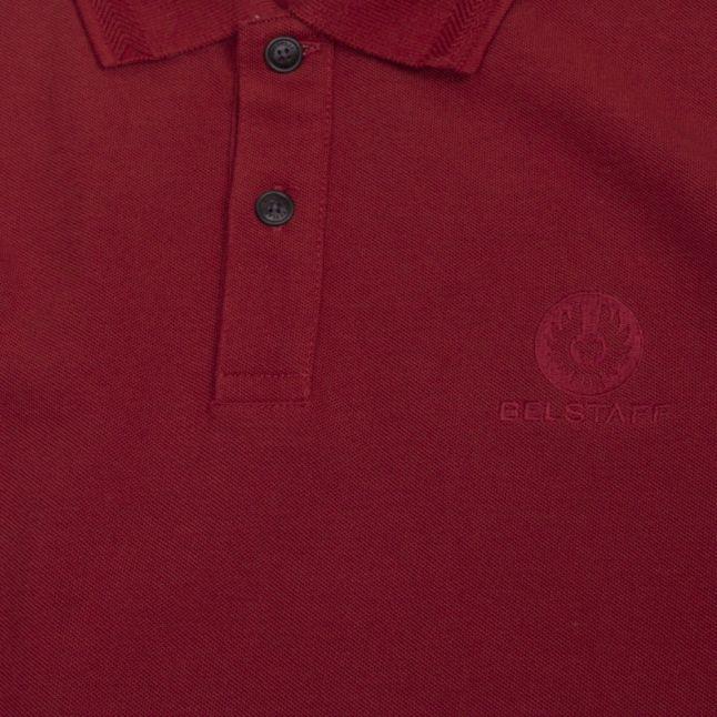 Mens Dark Carnelian Small Logo S/s Polo Shirt