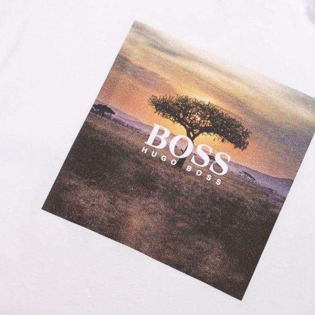 Casual Mens White Troaar 5 S/s T Shirt