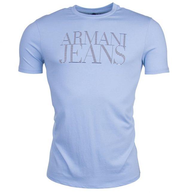 Mens Azzure Stripe Chest Logo S/s Tee Shirt