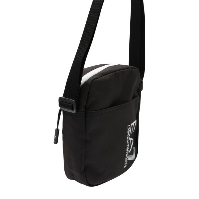 Mens Black/White Train Prime Pouch Crossbody Bag