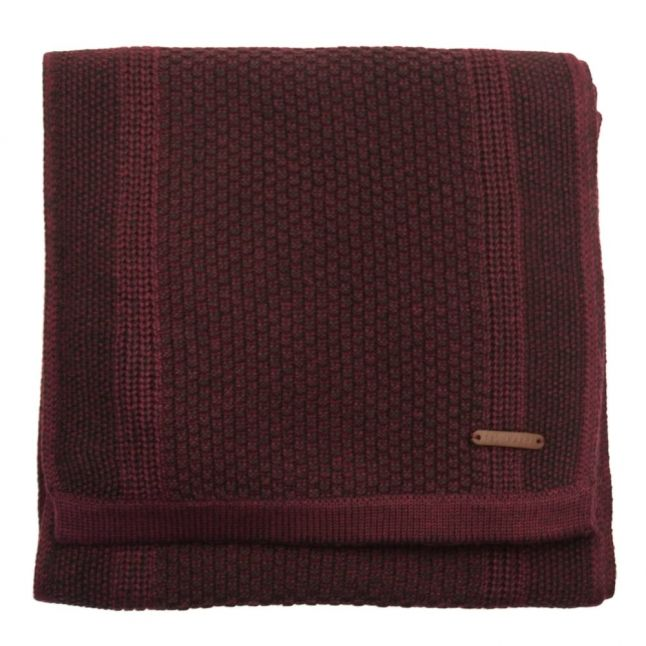 Mens Purple Terry Textured Scarf
